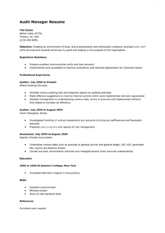sample-audit-manager-resume