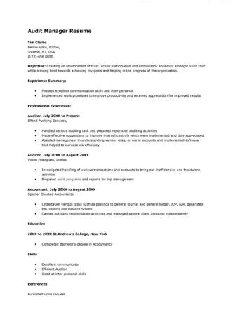 sample-audit-manager-resume