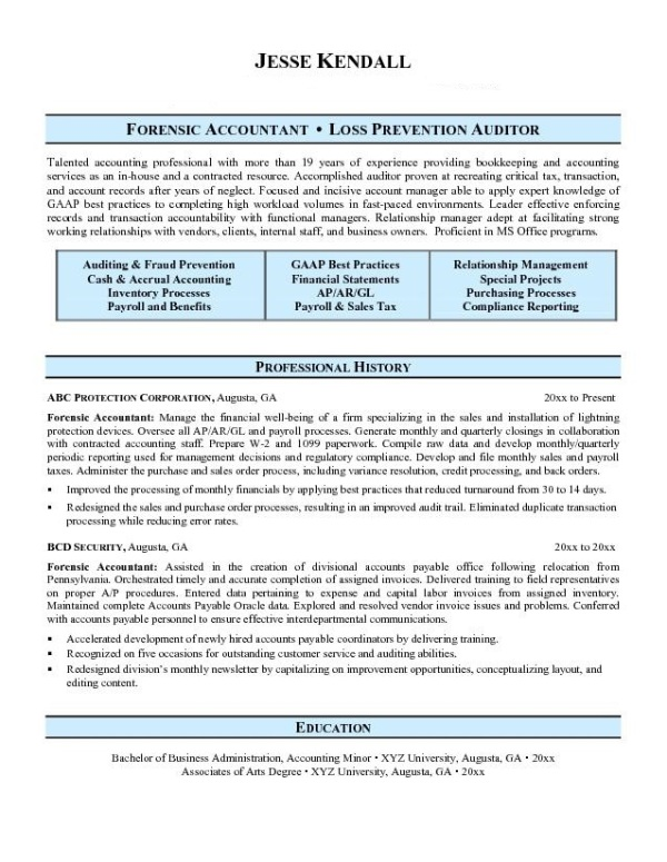 Forensic-Accountant-Resume