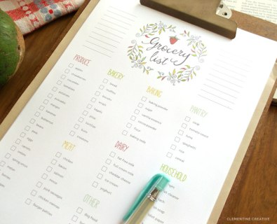 A Printable Grocery List is Your Best Friend""